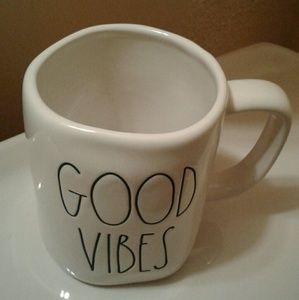 Rae Dunn mug GOOD VIBES